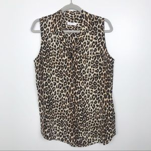 Bogo 50% Equipment leopard patterned tank blouse